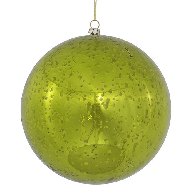 "6"" Lime Shiny Mercury Ball 4/bag"
