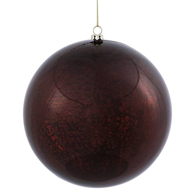 "6"" Chocolate Shiny Mercury Ball 4/bag"