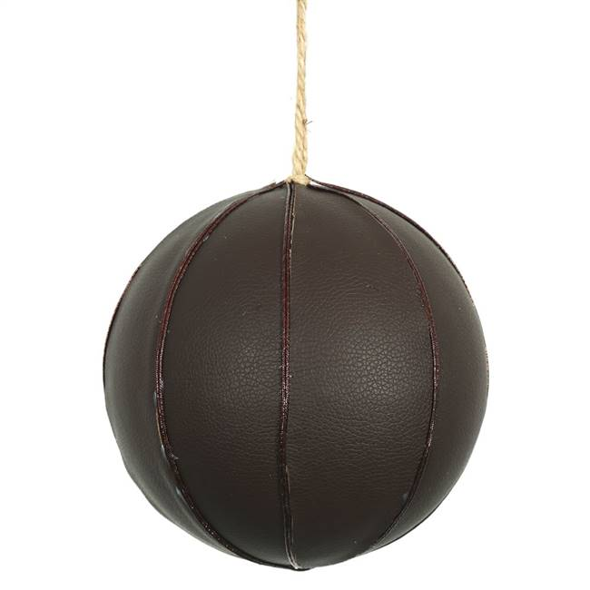 "6"" Brown Leather Ball 1/Bag"