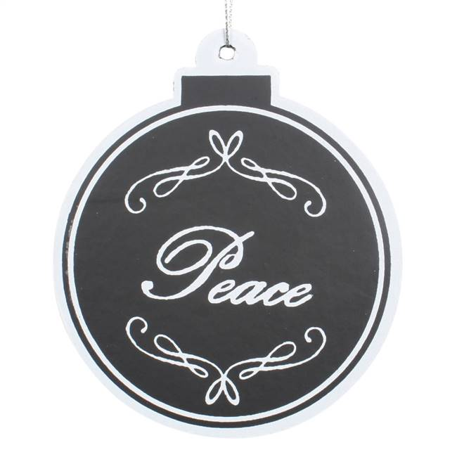 "5.5"" Black/White Flat Peace Ball 6/Bag"