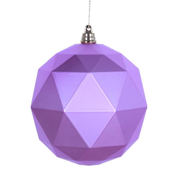 "4.75"" Orchid Matte Geometric Ball 4/bag"