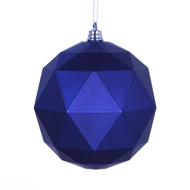 "6"" Cobalt Blue Matte Geo Ball 4/bag"