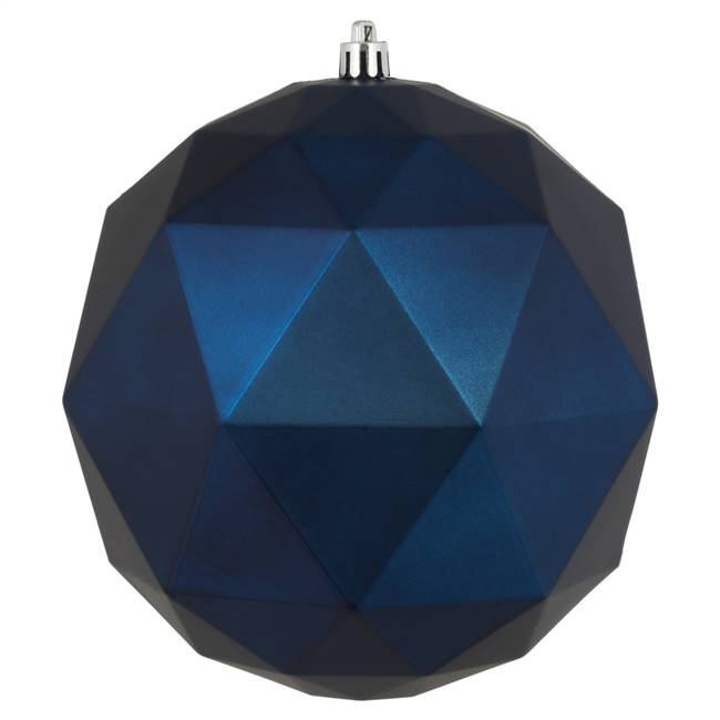 "6"" Midnt Blue Matte Geo Ball 4/Bg"
