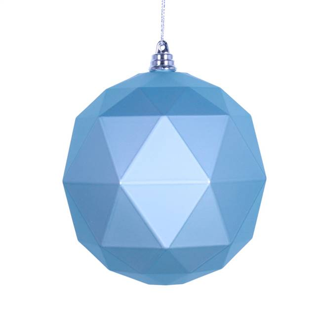 "6"" Baby Blue Matte Geometric Ball 4/bag"