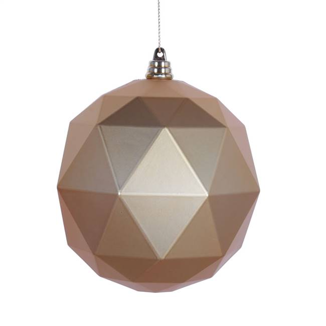 "6"" Honey Gold Matte Geometric Ball 4/bag"