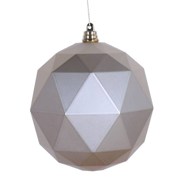 "6"" Champagne Matte Geometric Ball 4/bag"