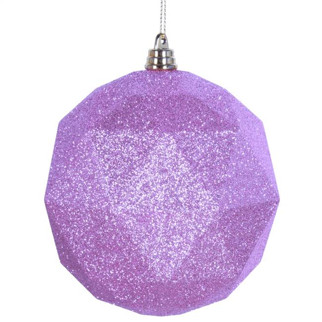 "6"" Pink Glitter Geometric Ball 4/bag"