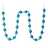 6' Turquoise Stripe Ball Ornamnt Garland