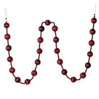 6' Wine Stripe Ball Ornament Garland