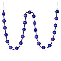 6' Purple Stripe Ball Ornament Garland