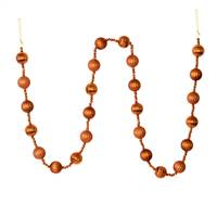 6' Copper Stripe Ball Ornament Garland