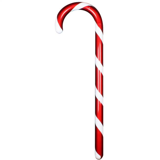 "48"" Red Candy Cane/White Glitter"
