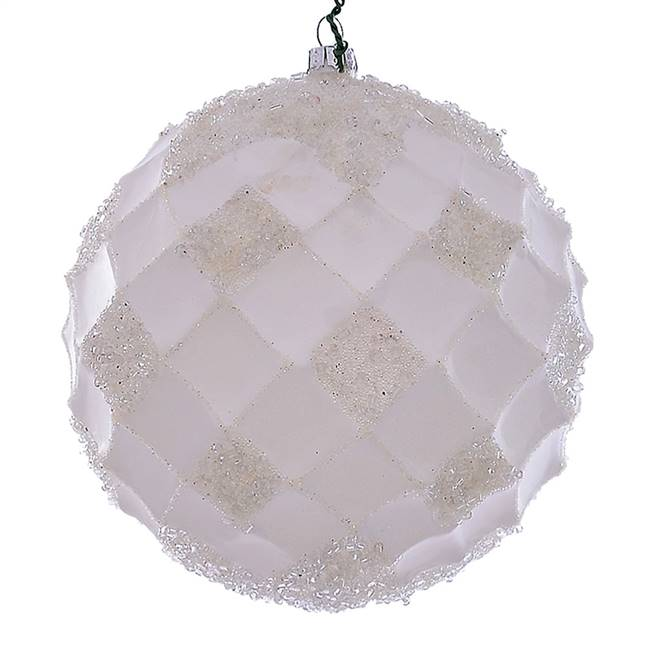 "4.75"" White Net Beaded Ball 3/Bag"