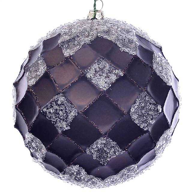 "4.75"" Chocolate Net Beaded Ball 3/Bag"