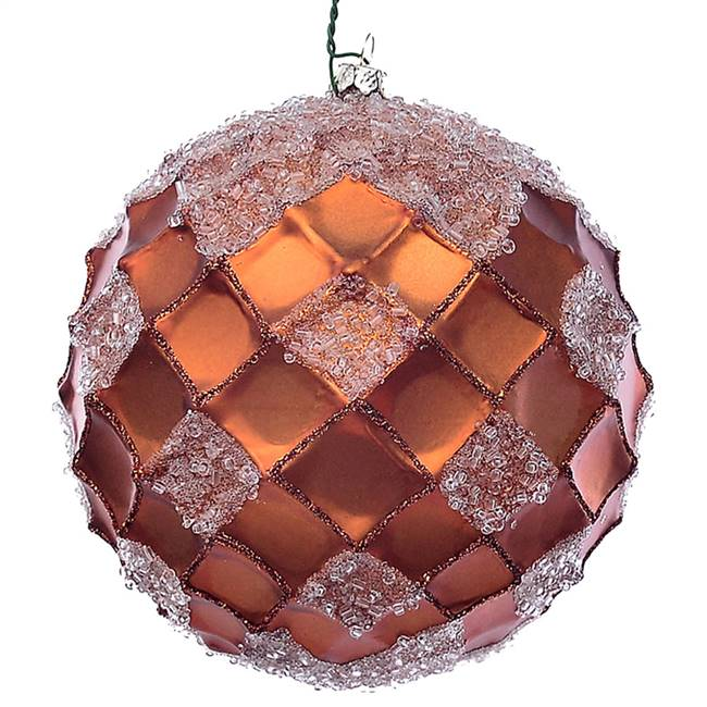 "4.75"" Copper Net Beaded Ball 3/Bag"