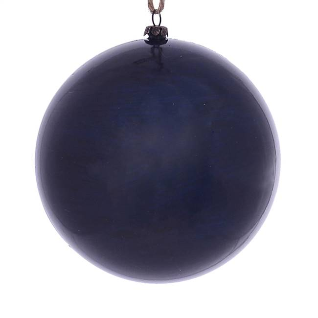 "4.75"" Midnight Blue Wood Grain Ball 4/Bg"