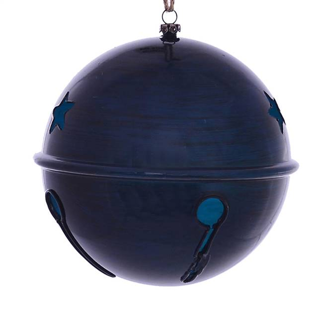 "6"" Midnight Blue Wood Grain Bell 2/Bag"