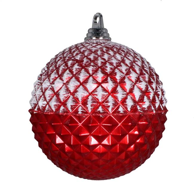 "10"" Red Glitter Candy Durian Orn"