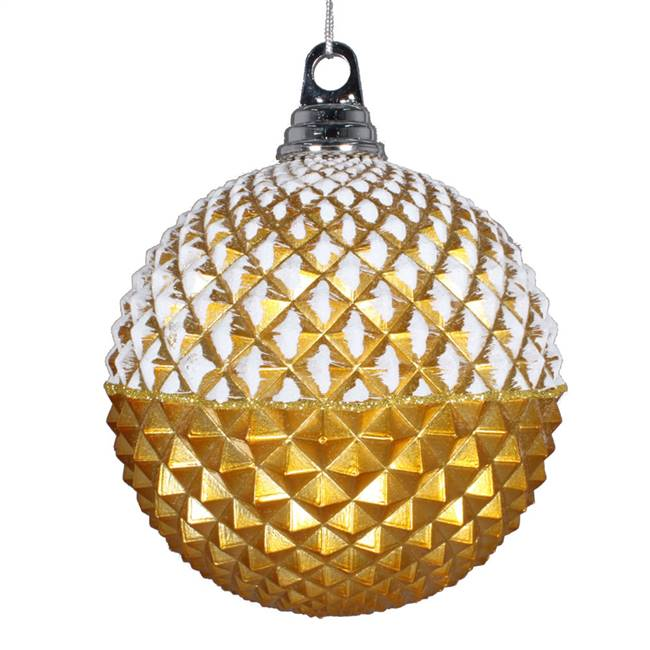 "10"" Gold Glitter Candy Durian Orn"
