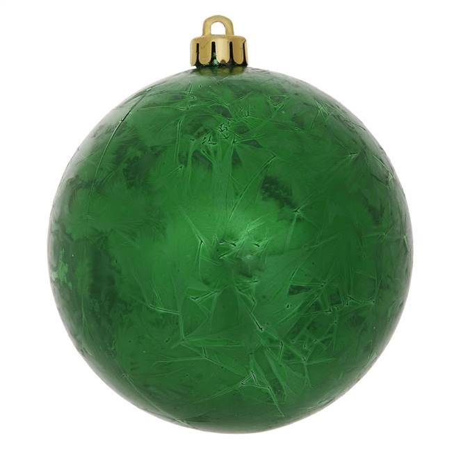"10"" Green Crackle Ball  Drilled 1/Bag"