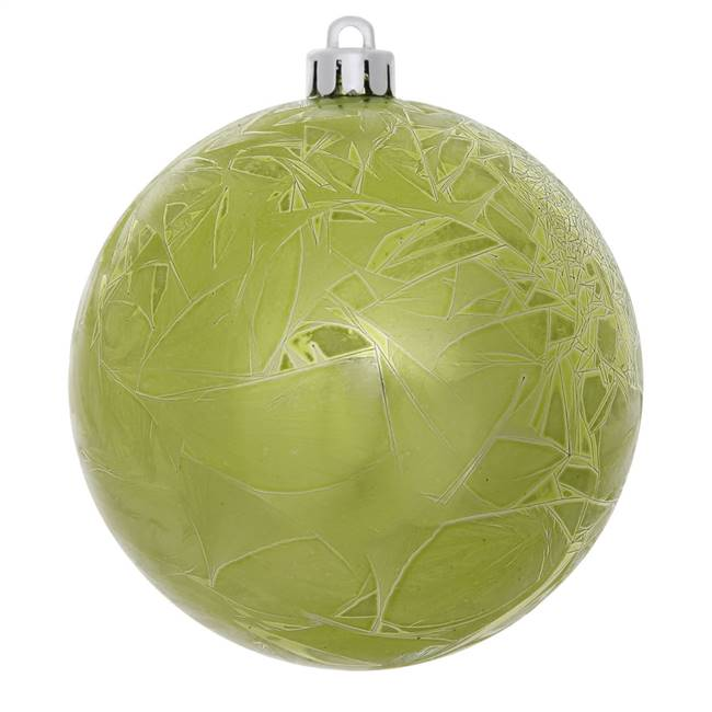 "10"" Lime Crackle Ball  Drilled 1/Bag"