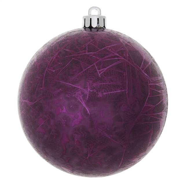 "10"" Plum Crackle Ball  Drilled 1/Bag"