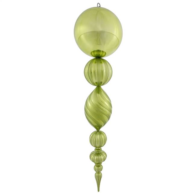 "40"" Lime UV Shiny Matte Ball Finial"