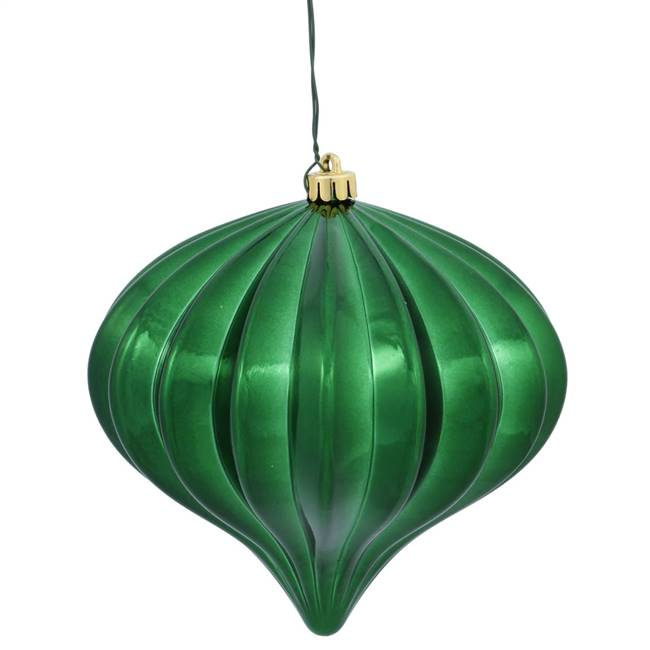 "5.7"" Green Shiny Onion UV Drilled 3/Bag"