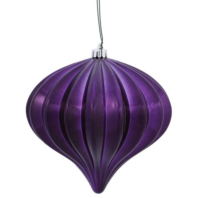 "5.7"" Plum Shiny Onion UV Drilled 3/Bag"