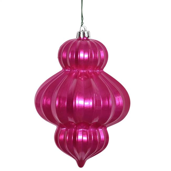 "6"" Orchid Candy Lantern UV Drilled 3/Bag"