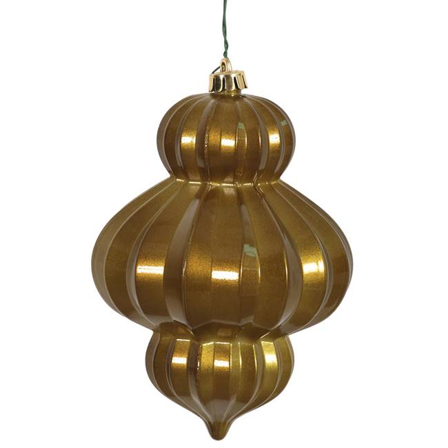 "6"" Olive Candy Lantern UV Drilled 3/Bag"