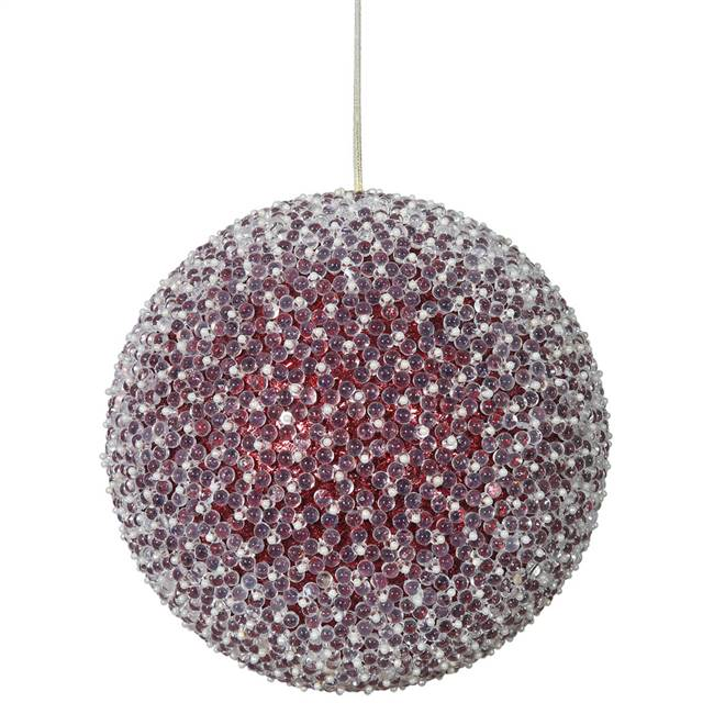 "10"" Red Acrylic Beaded Ball 1/Bag"