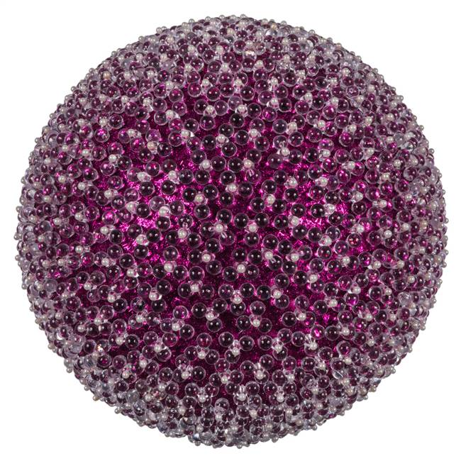 "10"" Purple Acrylic Beaded Ball 1/Bag"