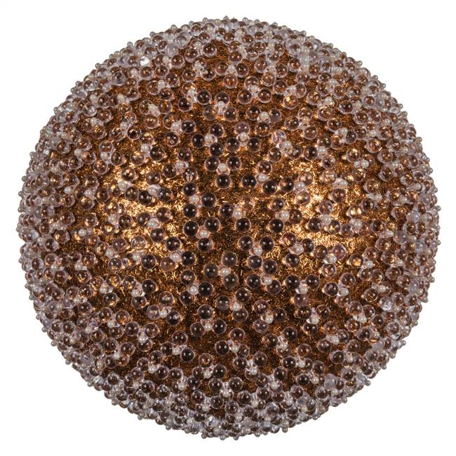 "10"" Rose Gold Acrylic Beaded Ball 1/Bag"