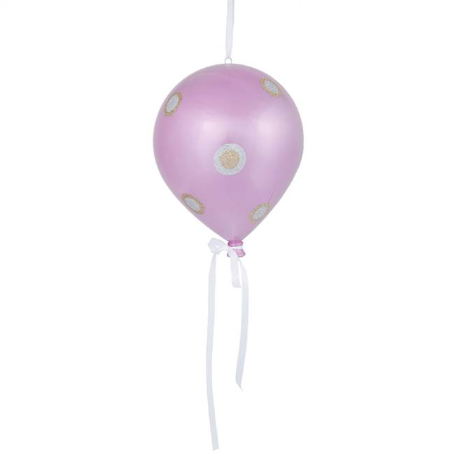 "10"" x 8"" Pink Candy Dot Balloon 1/Bg"