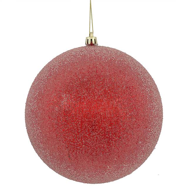 "6"" Red Iced Ball 3/Bx"