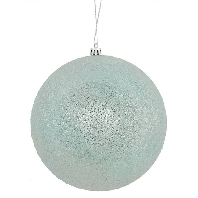 "6"" Baby Blue Iced Ball 3/Bx"