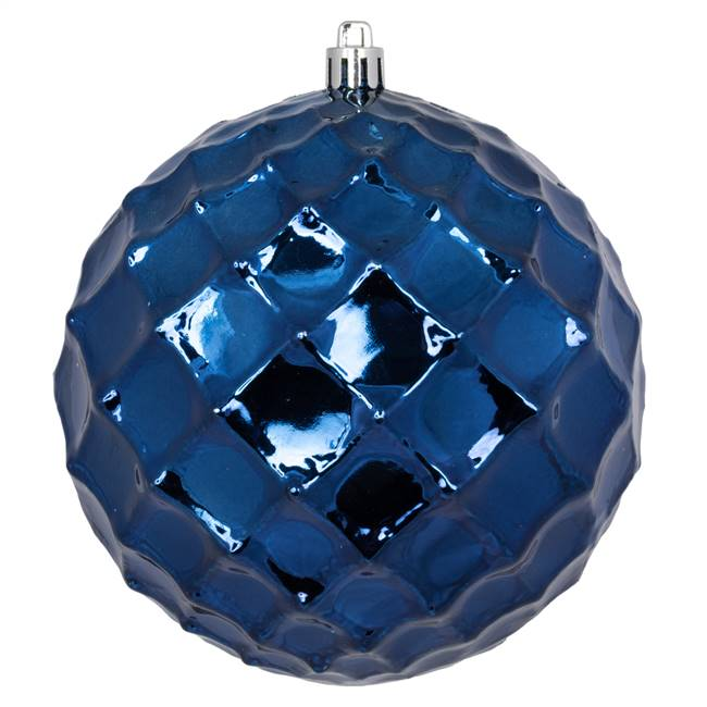 "4.75"" Midnt Blue Diamond Bauble 4/Bg"