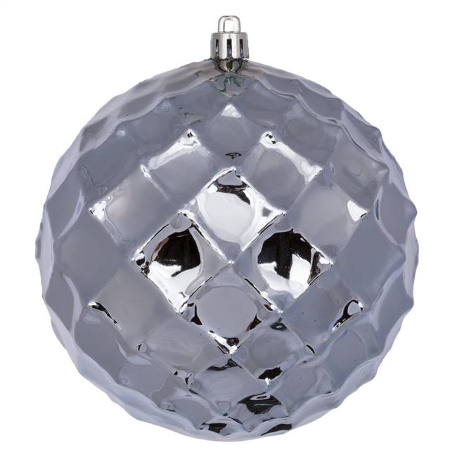 "4.75"" Lilac Diamond Bauble 4/Bg"