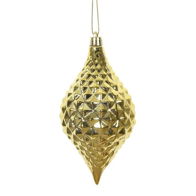 "6"" x 3"" Gold Shiny Diamond Drop 4/Bg"