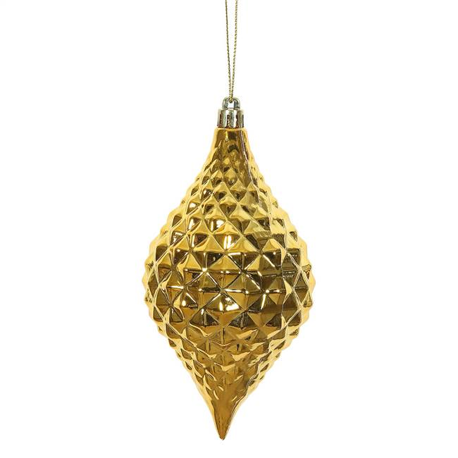 "6"" x 3"" HoneyGold Shiny Diamond Drop 4Bg"