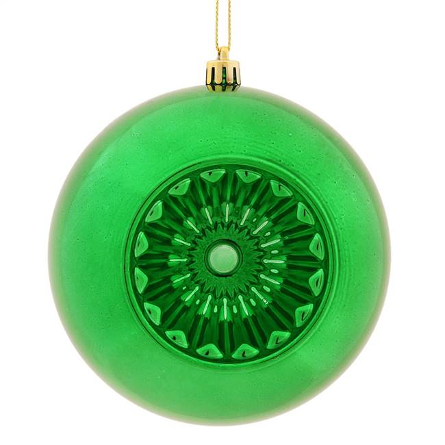 "4.75"" Green Shiny Star Brite Ball 4/Bg"