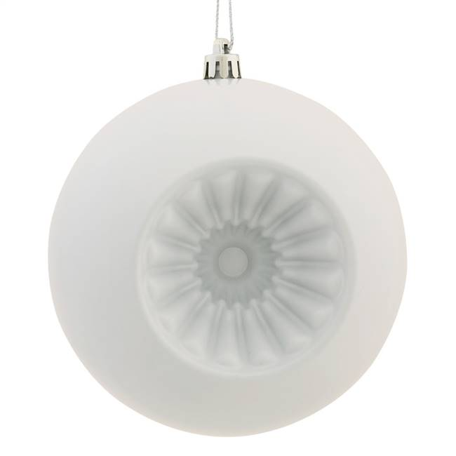 "4.75"" White Shiny Star Brite Ball 4/Bg"