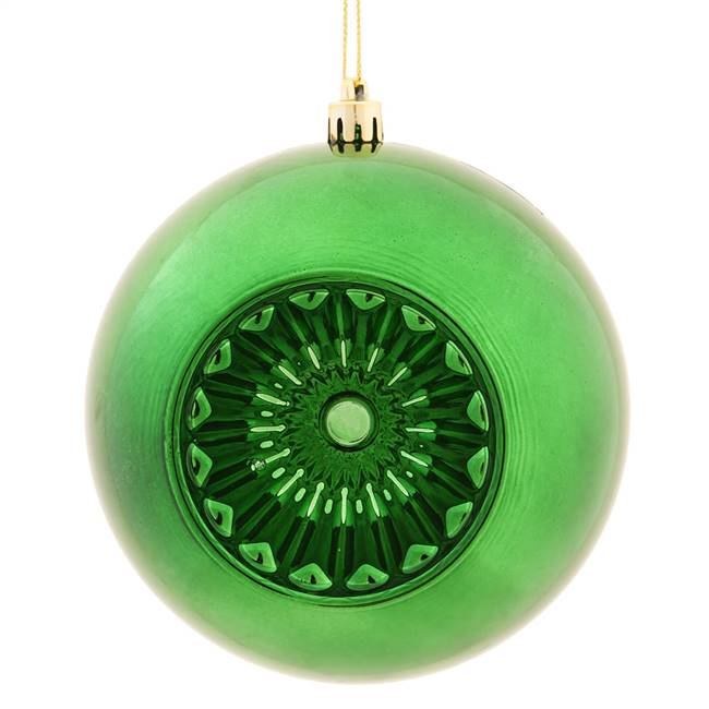 "4.75"" Emerald Shiny Star Brite Ball 4/Bg"