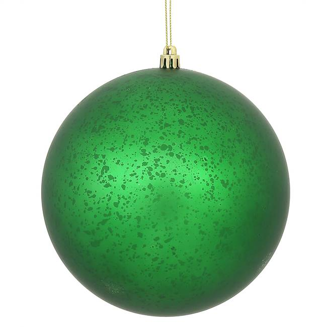 "4"" Green Matte Mercury Ball 6/Bg"