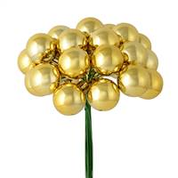 "1"" x 24pc Gold Shiny Ball Pick 2/Pk"