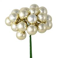 "1"" x 24pc Champagne Shiny Ball Pick 2/Pk"