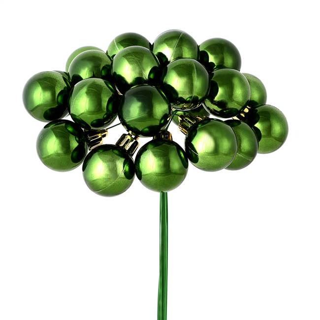 "1"" x 24pc Moss Green Shiny Ball Pick 2Pk"