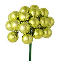 "1"" x 24pc Lime Shiny Ball Pick 2/Pk"
