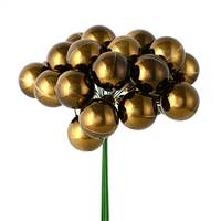 "1"" x 24pc Chocolate Shiny Ball Pick 2/Pk"